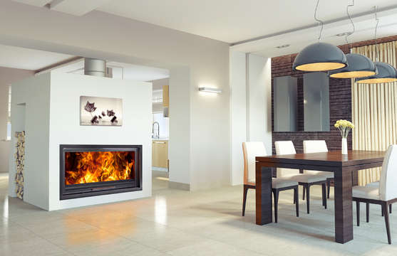 Woodfire Evo LD 30 Panorama inset boiler stove