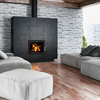 Woodfire EX Panorama insert boiler stoves